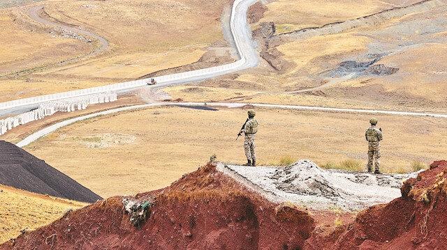 Sınır hattında 7/24 takip: Hem elektronik hem fiziki koruma