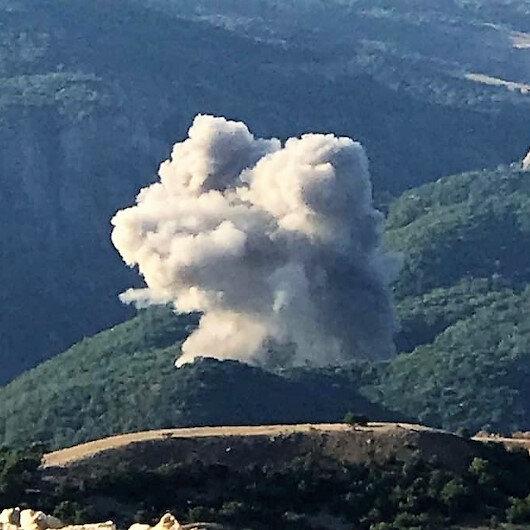Ormanı ateşe veren PKK'lılara operasyon: 1 terörist öldürüldü