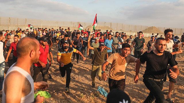 İşgalci İsrail güçlerinden Gazze'de saldırı: 10'u çocuk 24 Filistinli yaralandı