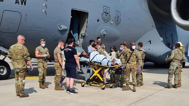 Afganistan'dan tahliye edilen bir kadın ABD uçağında doğum yaptı