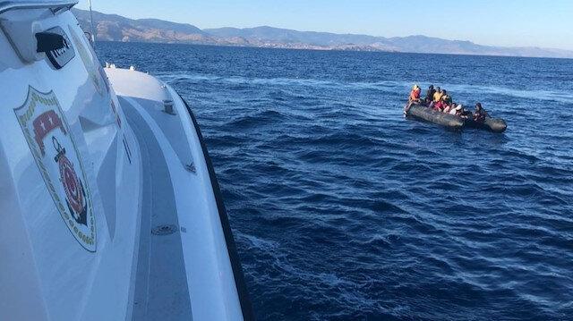 Ayvacık açıklarında Yunanistan'ın ölüme terk ettiği 52 kaçak göçmen kurtarıldı