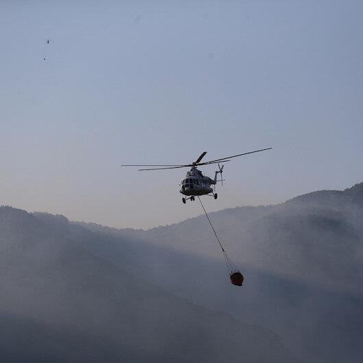 Güzel haberi Bakan Pakdemirli duyurdu: Kaz Dağları yangını kontrol altında