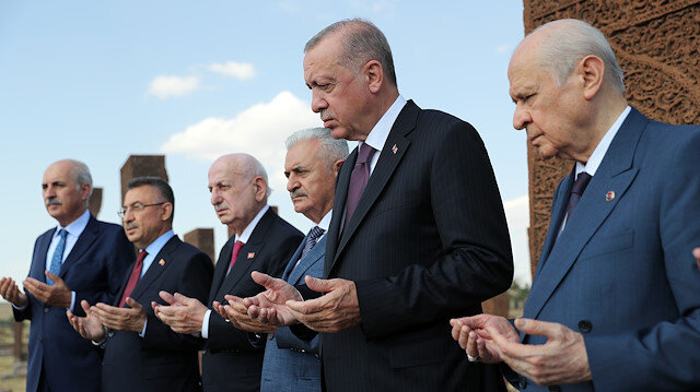 Cumhurbaşkanı Erdoğan'dan Selçuklu Meydan Mezarlığı'na ziyaret