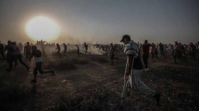 تظاهرات در مرز غزه با اسرائیل