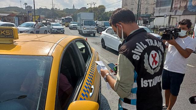 Kural tanımaz taksi şoförlerine ceza yağdı: Ekipler tek tek denetledi