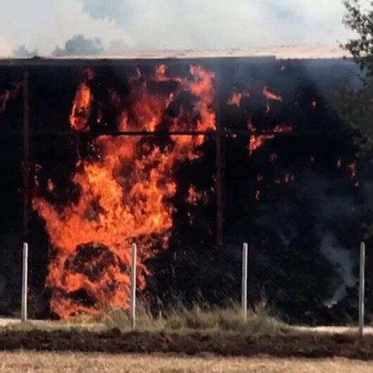 Tekirdağda saman deposunda yangın
