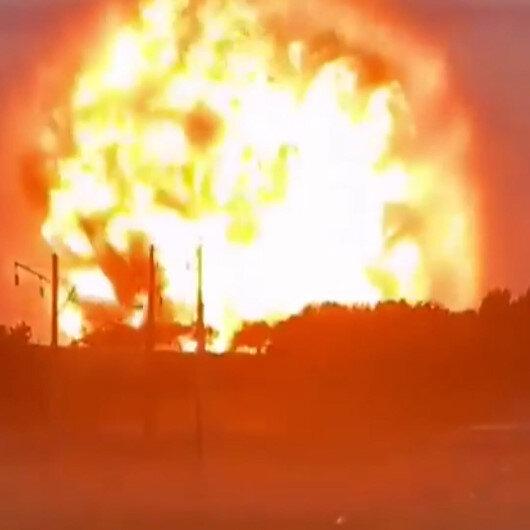 Kazakistandaki askeri mühimmat deposunda şiddetli patlama: Alevler gökyüzüne yükseldi