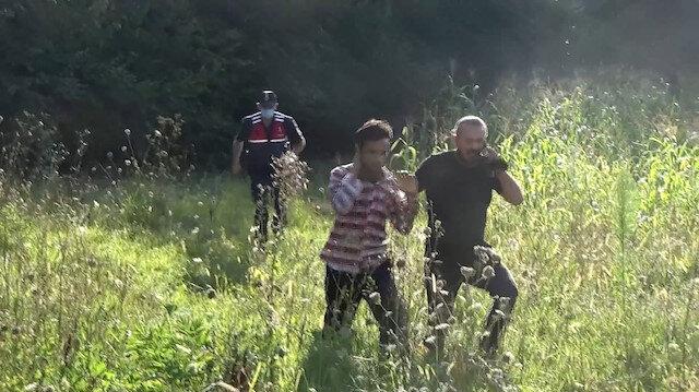 Bolu'da ormana kaçan göçmenler kovalamaca sonucunda yakalandı