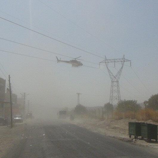 Şanlıurfa'da 'helikopter tellere takıldı' paniği