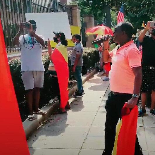 Amerikan Ermeni Ulusal Komitesi Etiyopyada Türk İHAlarının kullanıldığı yalanıyla ABDde gösteri düzenledi