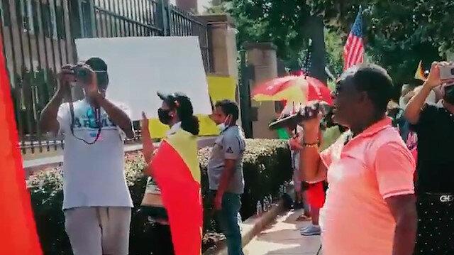 Amerikan Ermeni Ulusal Komitesi Etiyopya'da Türk İHA'larının kullanıldığı yalanıyla ABD'de gösteri düzenledi