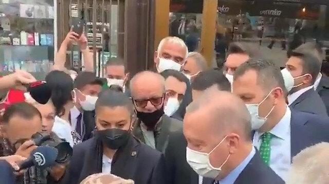 Boşnak teyzeden Cumhurbaşkanı Erdoğan'a sıcak karşılama