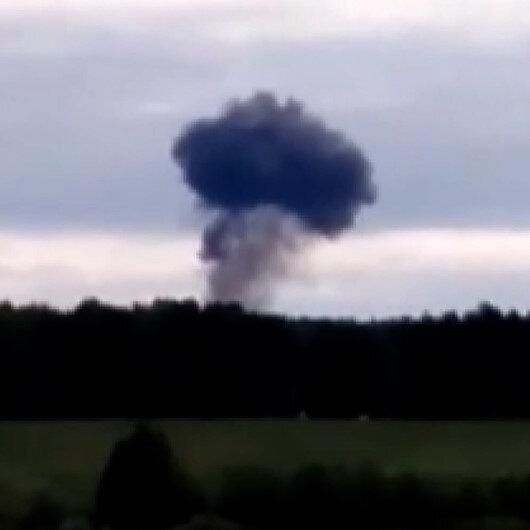 Rus savaş uçağı Su-24 düştü: Pilotlar fırlatma sistemiyle canını kurtardı