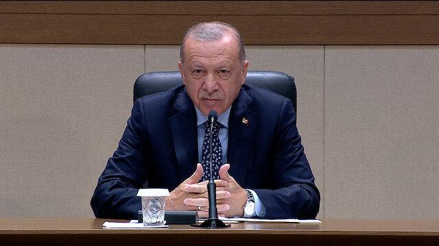 Cumhurbaşkanı Erdoğan: Bir şaklaban da bulmuşlar yalan terörünü sürdürüyorlar
