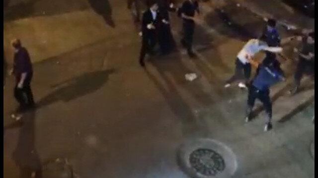 Sultangazi'de yüksek sesle eğlence yapan şahıslar kendilerini uyaran polise saldırdı