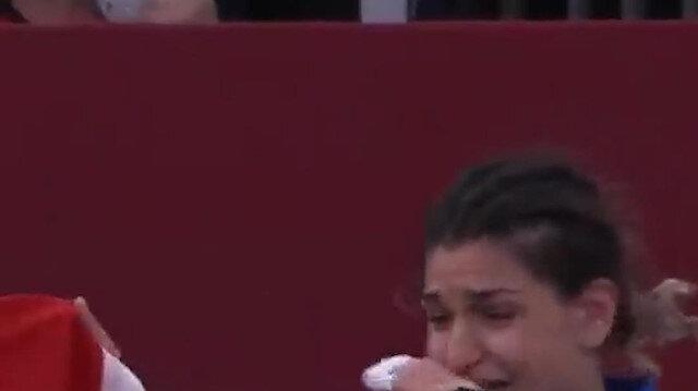 Milli judocu Zeynep Çelik Japon rakibini altın skorla yenerek bronz madalyanın sahibi oldu