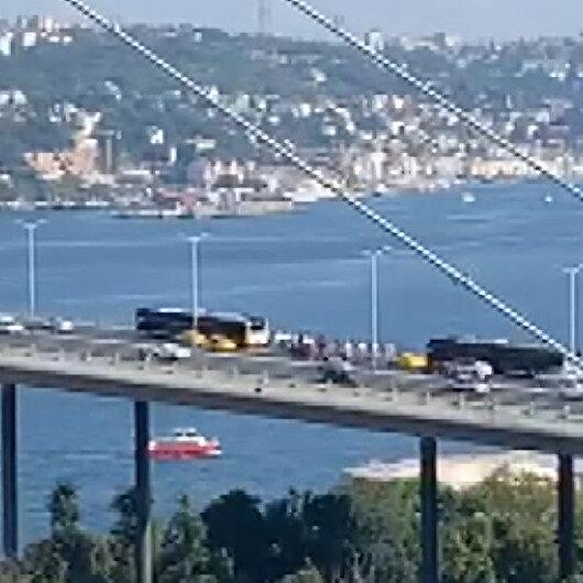 15 Temmuz Şehitler Köprüsünde metrobüs arızası