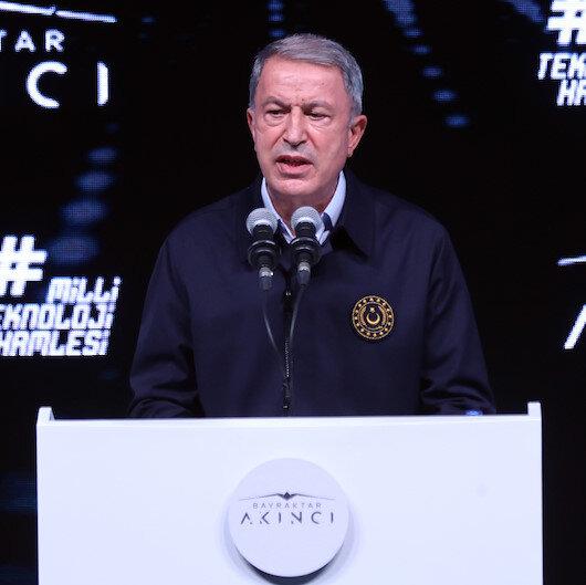 Milli Savunma Bakanı Hulusi Akar Akıncı TİHA'nın teslim töreninde konuştu: Bizler için gurur kaynağı