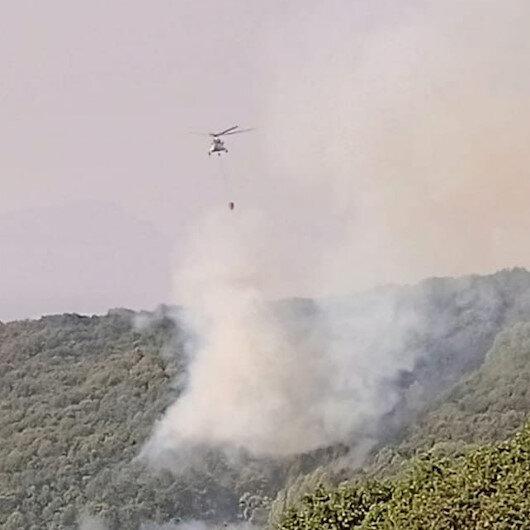 Tunceli'de 2 helikopter ve bir uçakla yangına müdahale sürüyor