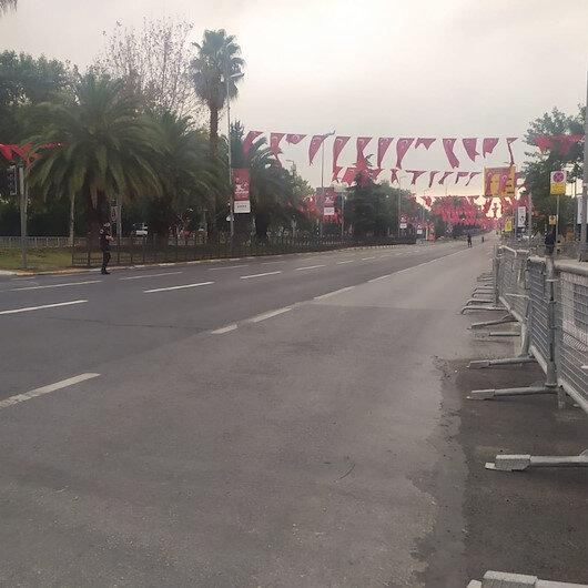 Vatan Caddesi 30 Ağustos Zafer Bayramı nedeniyle trafiğe kapatıldı