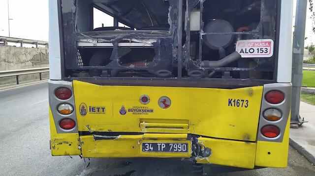 Avcılar'da hafriyat kamyonu İETT otobüsüne çarptı: 2 yaralı