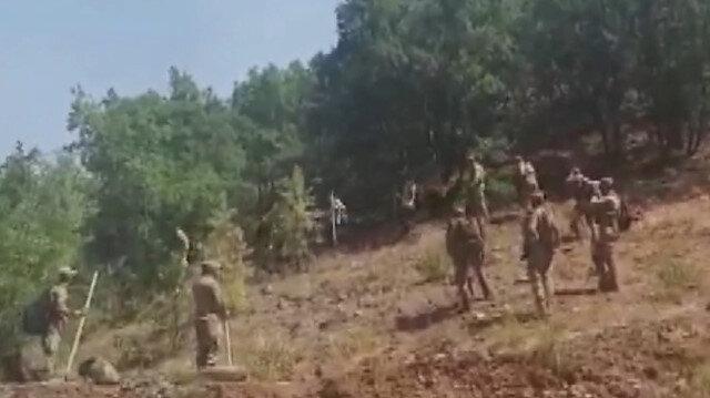 Tunceli'deki yangına Mehmetçik de 80 personelle müdahale ediyor