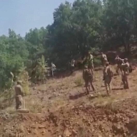 Tuncelideki yangına Mehmetçik de 80 personelle müdahale ediyor