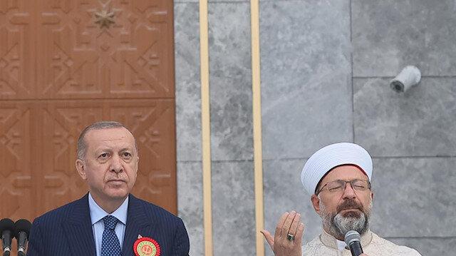 Diyanet İşleri Başkanı Erbaş Jandarma ve Sahil Güvenlik Mezuniyet Töreni'nde dua etti