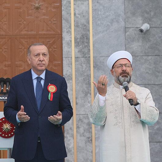 Diyanet İşleri Başkanı Erbaş Jandarma ve Sahil Güvenlik Mezuniyet Töreninde dua etti