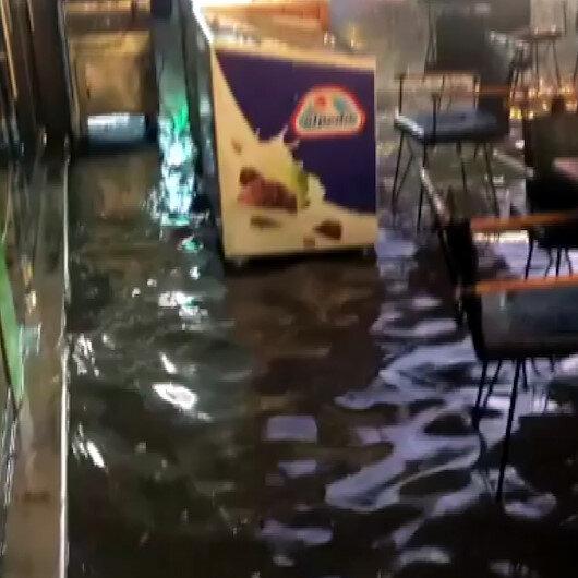 Ankarada sel: İş yerlerini su bastı
