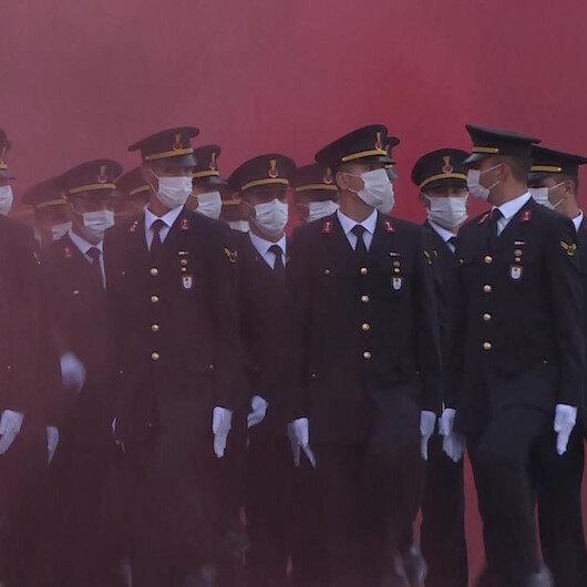 Bursada jandarma astsubay öğrencileri için mezuniyet töreni düzenlendi