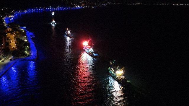 """Av yasağı bitti: Balıkçılar """"Vira Bismillah"""" diyerek denize açıldı"""