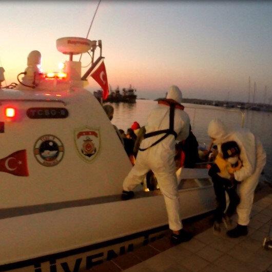 Yunanistan'ın Türk karasularına ittiği 47 göçmeni Türk Sahil Güvenliği kurtardı