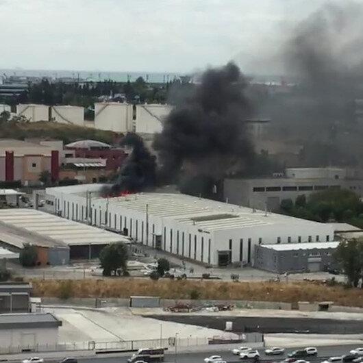 Bakırköyde fabrika yangını