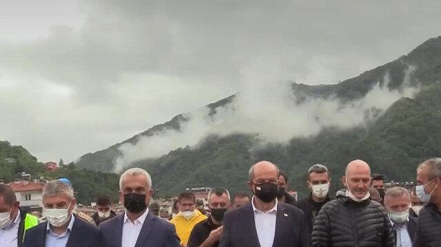 KKTC Cumhurbaşkanı Ersin Tatar Kastamonu Bozkurt'ta incelemelerde bulundu