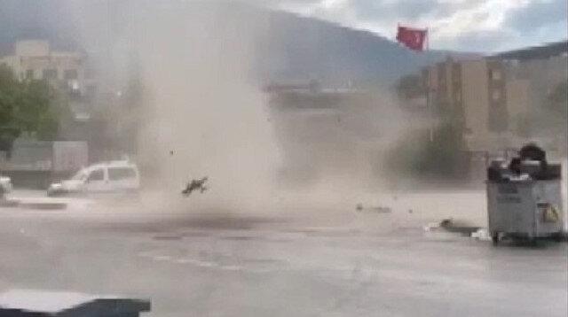 Bursa'da hortum paniği