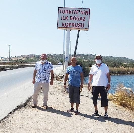 Burası Türkiye'nin ilk boğaz köprüsü: Görenleri şaşırtıyor