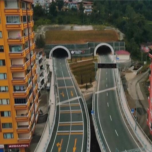 Rizenin 70 yıllık hayali gerçek oldu: Salarha Tüneli Cumhurbaşkanı Erdoğanın katılımıyla hizmete açıldı