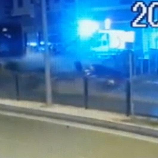 Jandarma astsubayın hayatını kaybettiği feci kaza kamerada