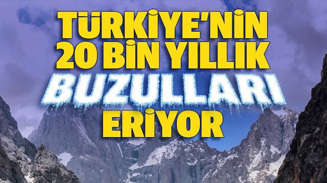 Türkiye'nin 20 bin yıllık buzulları eriyor