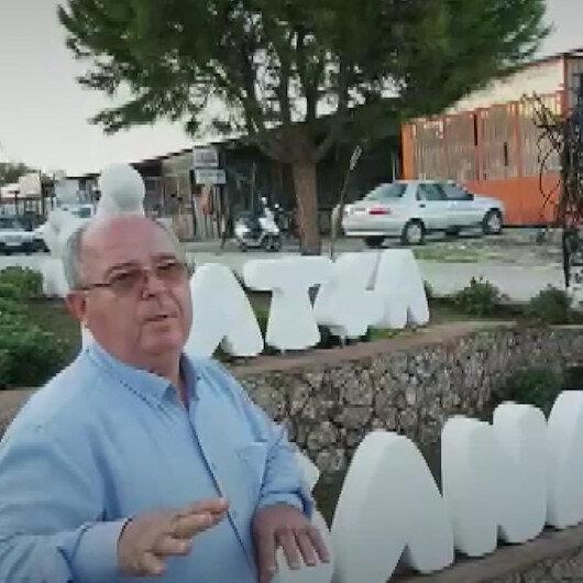 Datça Belediye Başkanı CHPli Gürsel Uçar Sanayi Ağacı heykelinin açılışına esnaf gelmeyince tören tarihini erteledi