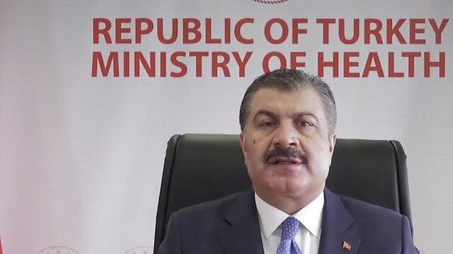 Sağlık Bakanı Koca G20 Sağlık Bakanları Toplantısı'nda konuştu