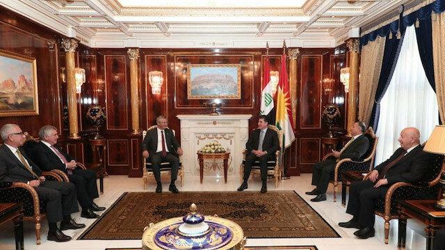 CHP heyeti Erbil'de IKBY Başkanı Barzani ile görüştü