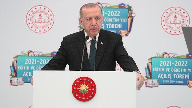 Cumhurbaşkanı Erdoğan yeni eğitim öğretim yılı açılında konuştu: Yüz yüze eğitimi devam ettirmekte kararlıyız
