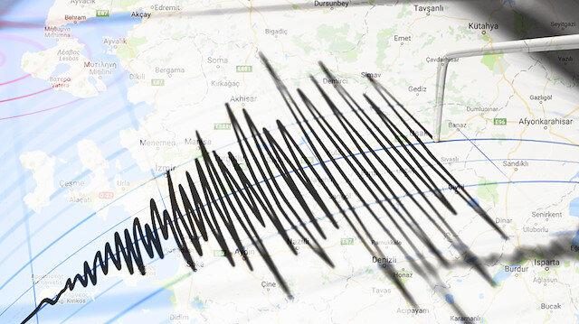 Denizli'de deprem meydana geldi