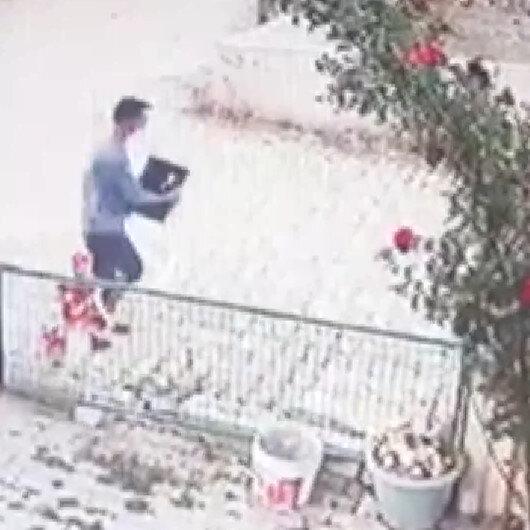 Afyonkarahisarda otelden bilgisayar hırsızlığı kamerada