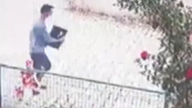 Afyonkarahisar'da otelden bilgisayar hırsızlığı kamerada