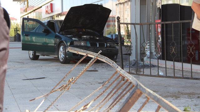 Erzurum'da feci kazayı demir parmaklıklar engelledi