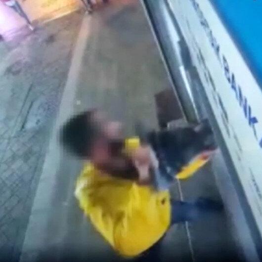Pendik'te demir dubayla ATMye saldırı anları kamerada