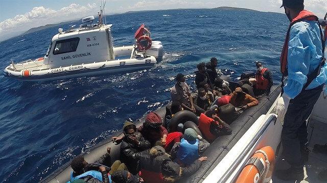Yunanistan'ın geri ittiği bin 541 kaçak göçmen kurtarıldı